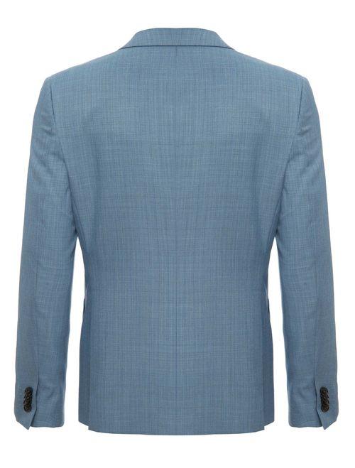 Costume Super Slim Poliviscose Liso Azul Claro