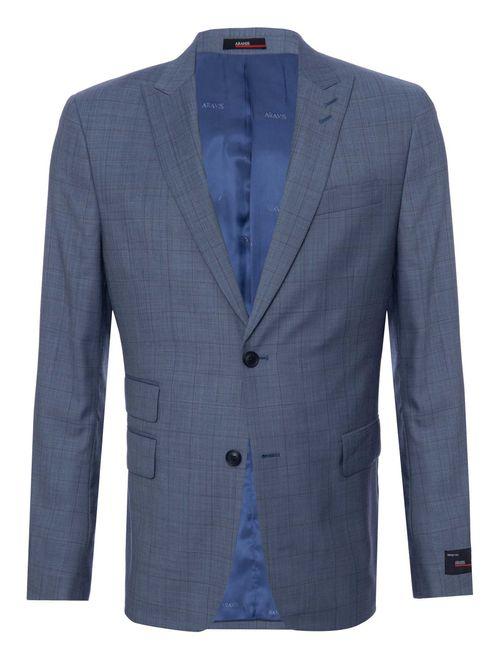 Costume Super 120 Super Slim Xadrez Azul Claro