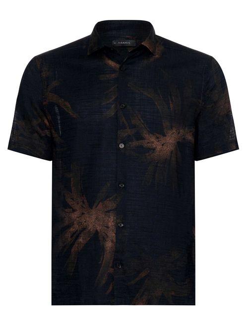 Camisa Manga Curta Jeanswear Floral Marinho