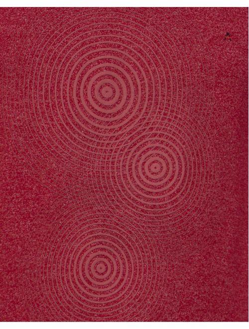 Camiseta Manga Curta Malha Tinturada Geométrica Vermelho