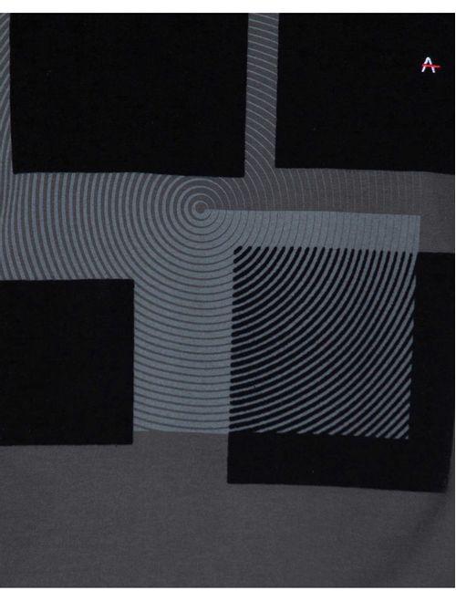 Camiseta Manga Curta 1/2 Malha Tinturada Geométrica Verde Musgo