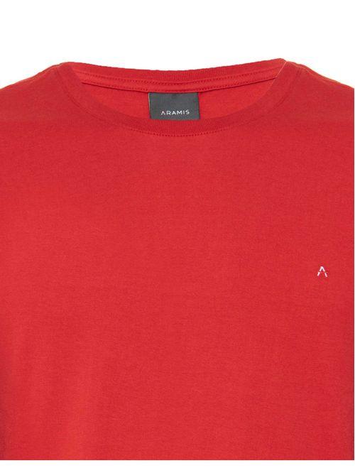 Camiseta Básica Lisa Manga Curta Malha Vermelho