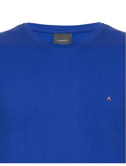 Camiseta Básica Lisa Manga Curta Malha Azul Bic