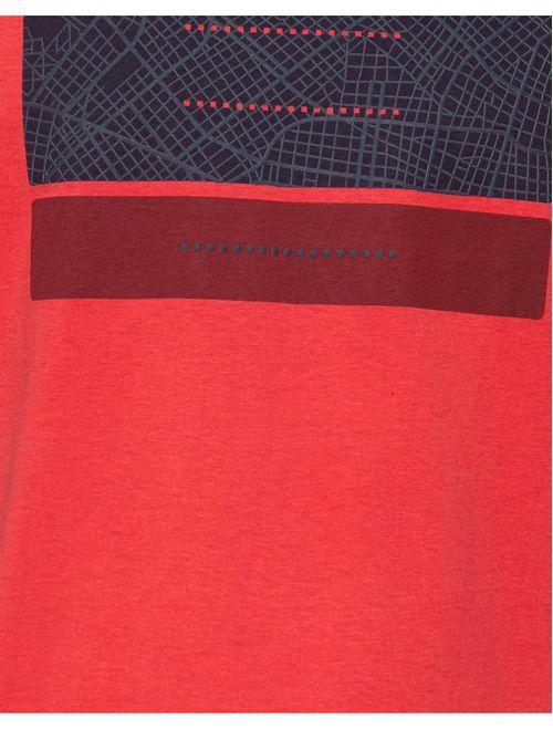 Camiseta Estampa Labirinto (Pa) Vermelho