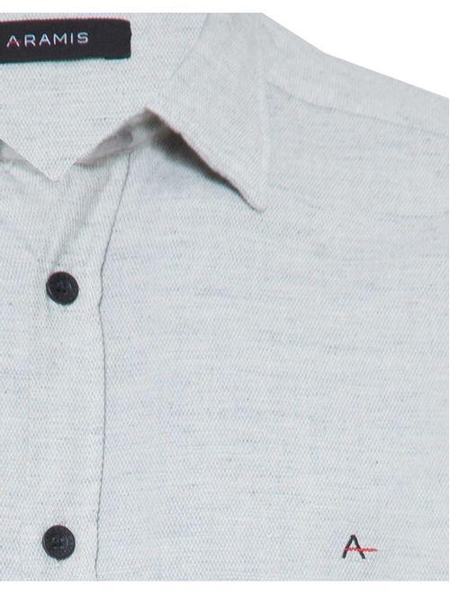 Camisa Manga Curta Casual Regular Energia Zen Cinza
