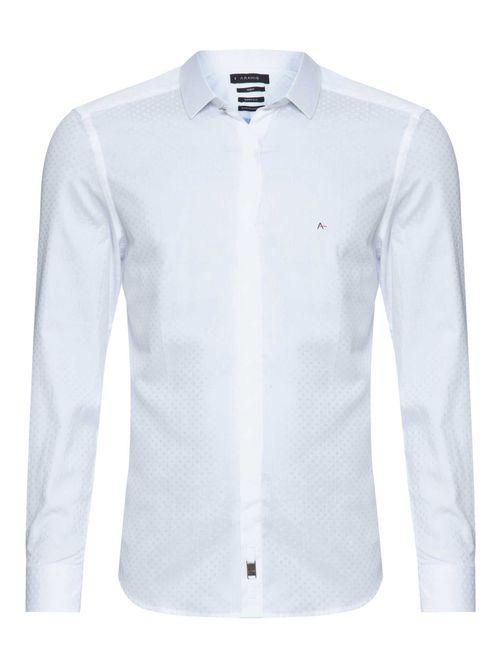 Camisa Manga Longa Night Super Slim Algodão Egípcio Branco