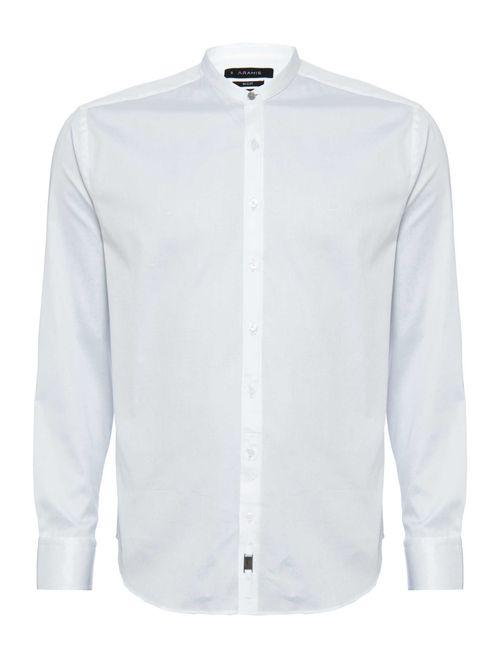 Camisa Night Sslim Gola Padre Cetim (Mo) Branco