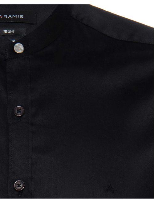 Camisa Night Sslim Gola Padre Cetim (Mo) Preto