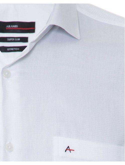 Camisa Manga Longa Social Regular Em Algodão Branco