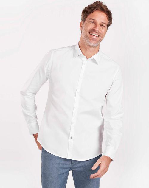 Camisa Manga Longa Jeanwear Slim Maquinetada Branco
