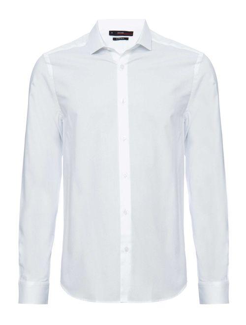 Camisa Manga Longa Social Super Slim Algodão Egípcio Branco