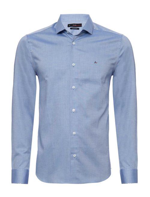 Camisa Manga Longa Social Super Slim Fio Egípcio Azul