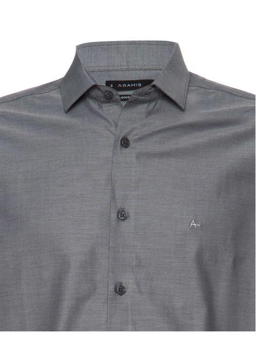Camisa Manga Longa Algodão Pima Casual Regular Cinza