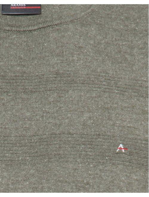 Camiseta De Tricot Manga Curta Jacquard Verde