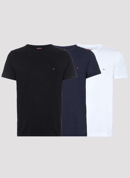 Kit 3 Camisetas Lisas