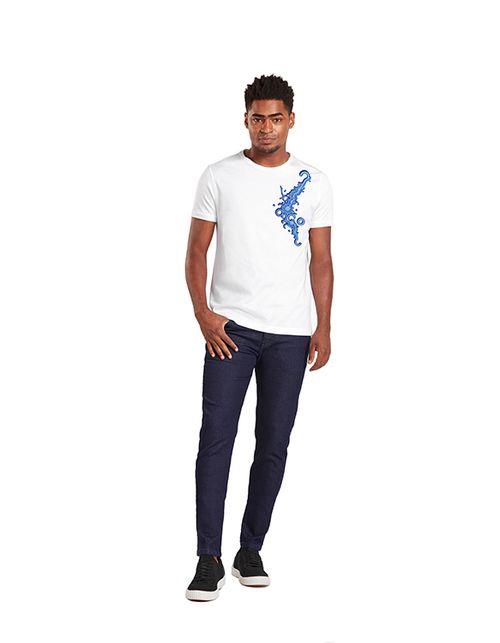 Camiseta Estampada Zezão Collab Branco