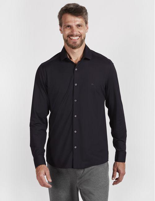 Camisa Manga Longa Malha Diklatex3 Preto