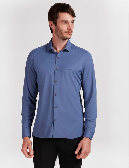 Camisa Manga Longa Malha Diklatex3 Azul Médio