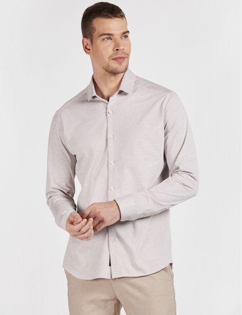 Camisa Manga Longa Em Malha Natural