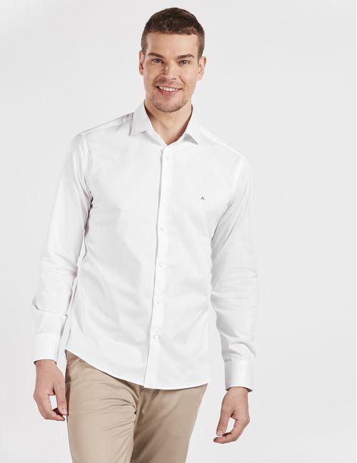 Camisa Manga Longa Casual Slim Fio 60 Branco