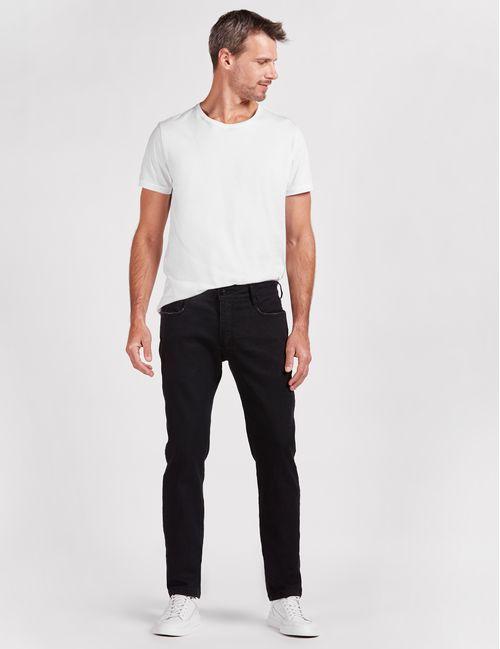 Calca Jeans Slim 5 Pockets Stone Preto